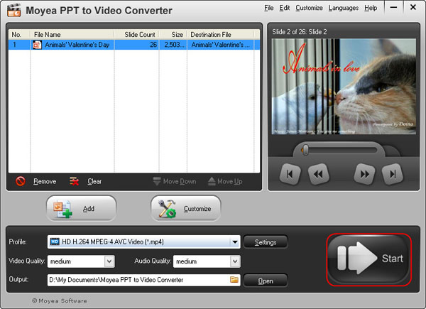 Convert PowerPoint to MP4 video