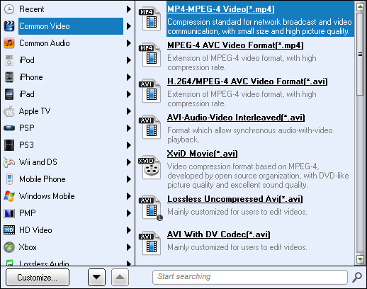 PowerPoint to Blackberry Bold 9700: Output video format