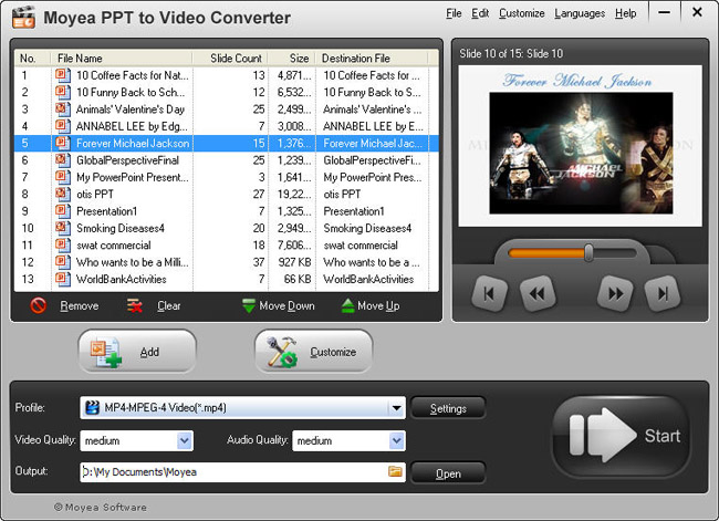 PowerPoint to Dailymotion: Add PPT